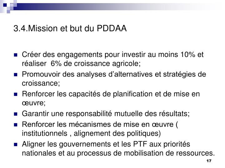 3.4.Mission et but du PDDAA