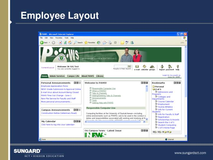 Employee Layout