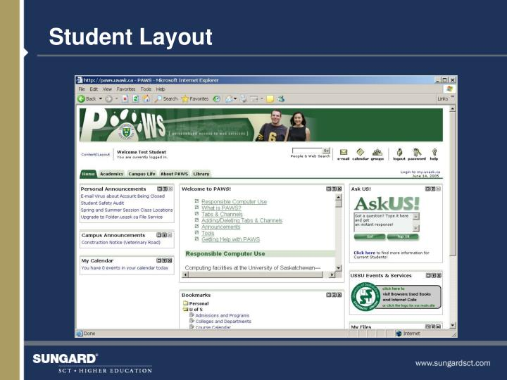 Student Layout