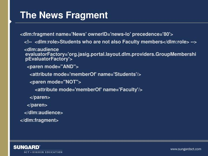 The News Fragment