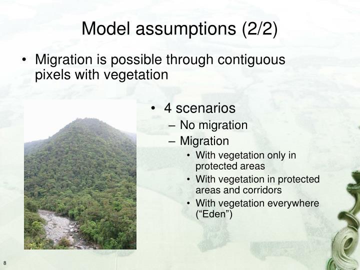 Model assumptions (2/2)