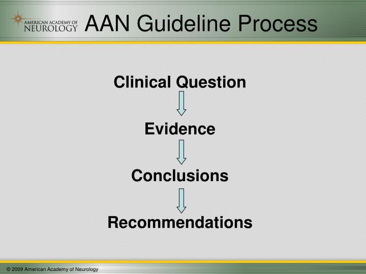AAN Guideline Process