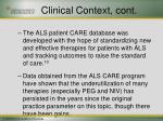 clinical context cont