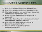 clinical questions cont2