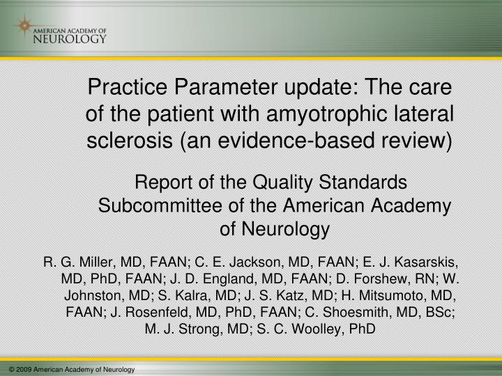 Report of the Quality Standards Subcommittee of the American Academy of Neurology
