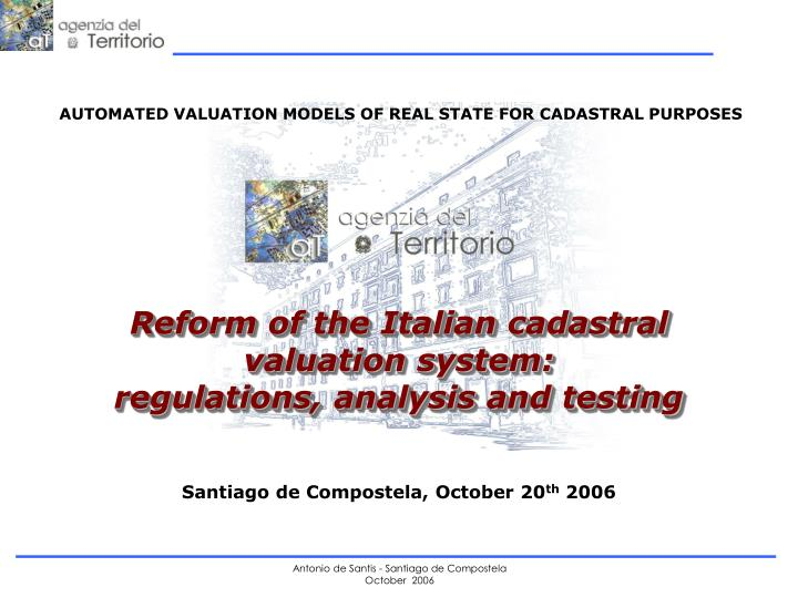 AUTOMATED VALUATION MODELS OF REAL STATE FOR CADASTRAL PURPOSES