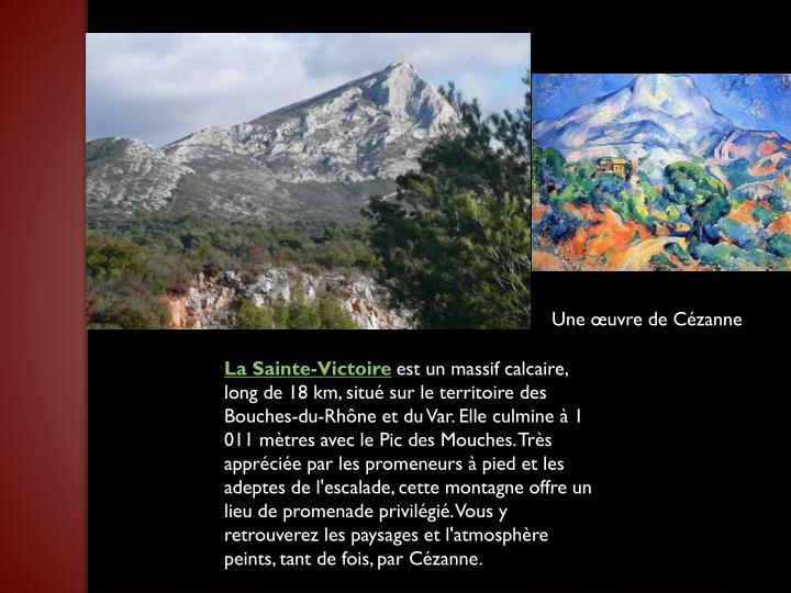 Une œuvre de Cézanne
