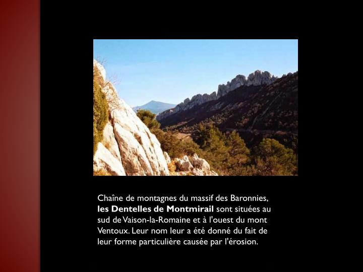 Chaîne de montagnes du massif des Baronnies,