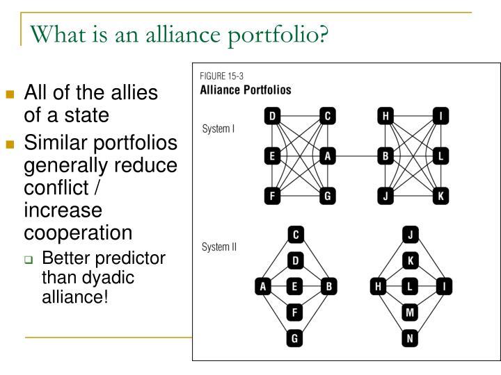 What is an alliance portfolio?