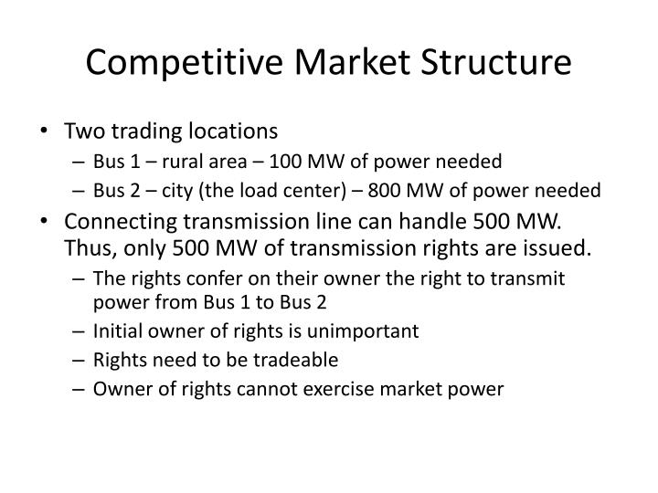 Competitive Market Structure