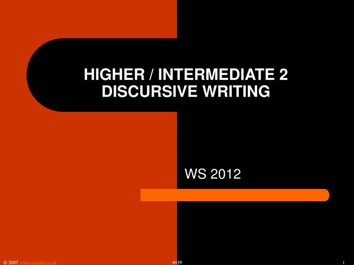 higher intermediate 2 discursive writing