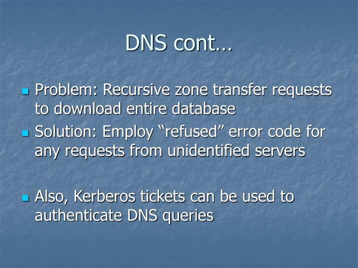 DNS cont…