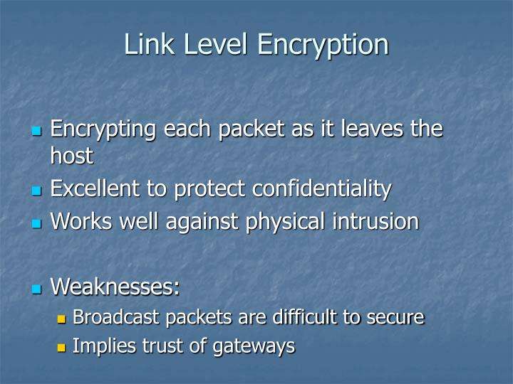 Link Level Encryption