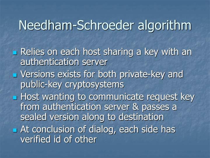 Needham-Schroeder algorithm
