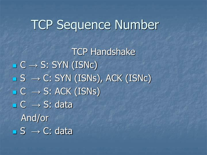 TCP Sequence Number