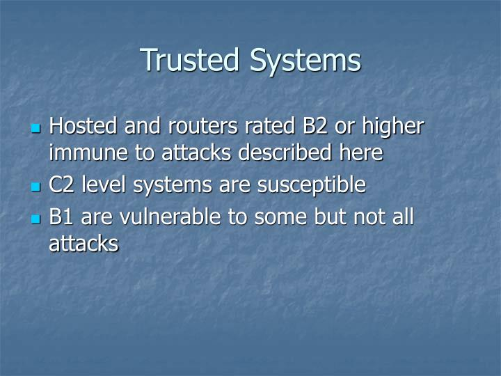 Trusted Systems