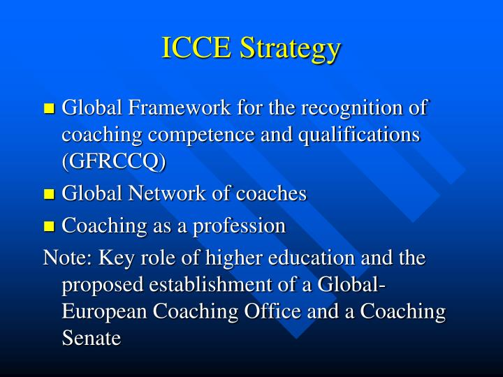 ICCE Strategy