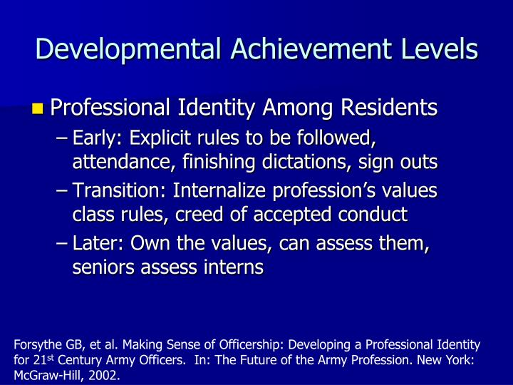 Developmental Achievement Levels