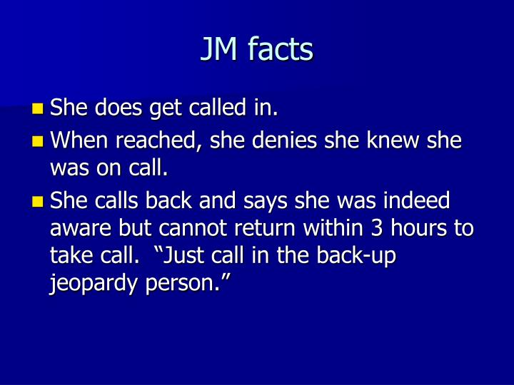 JM facts