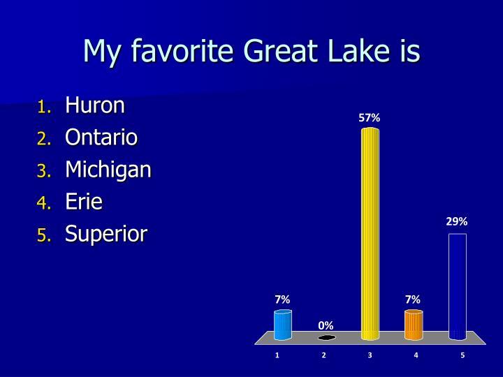 My favorite Great Lake is