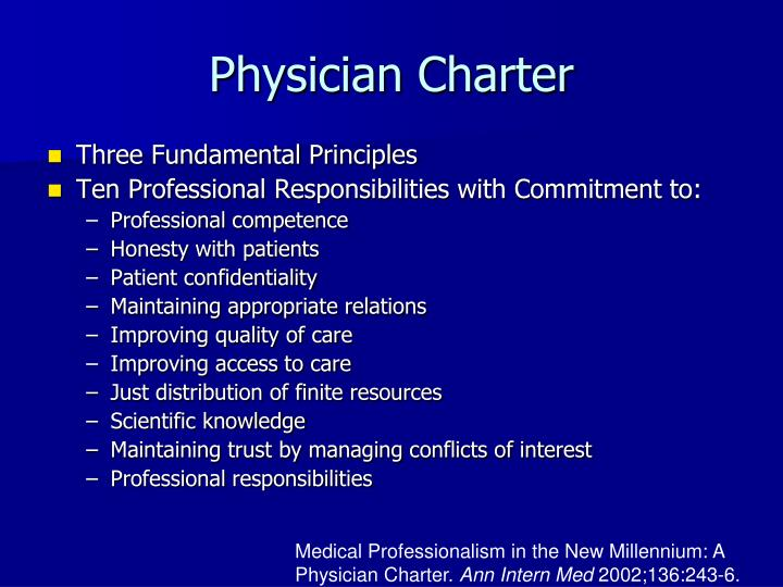 Physician Charter