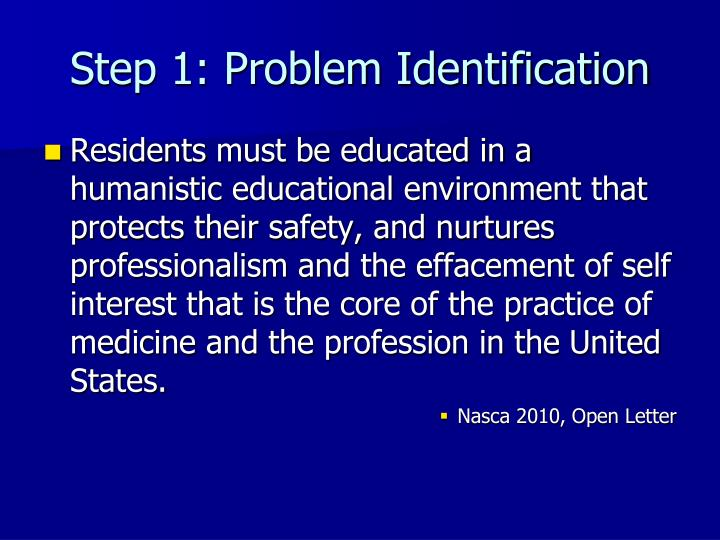 Step 1: Problem Identification
