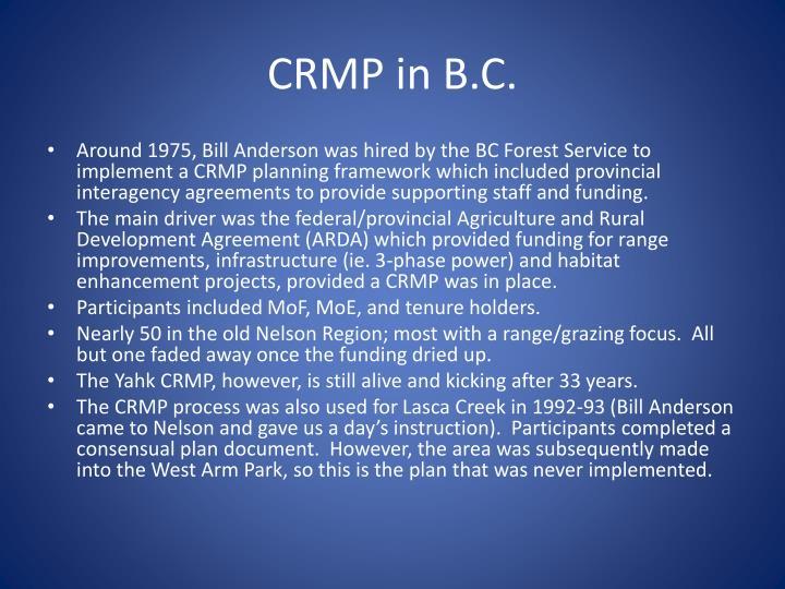 CRMP in B.C.