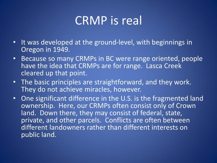 CRMP is real