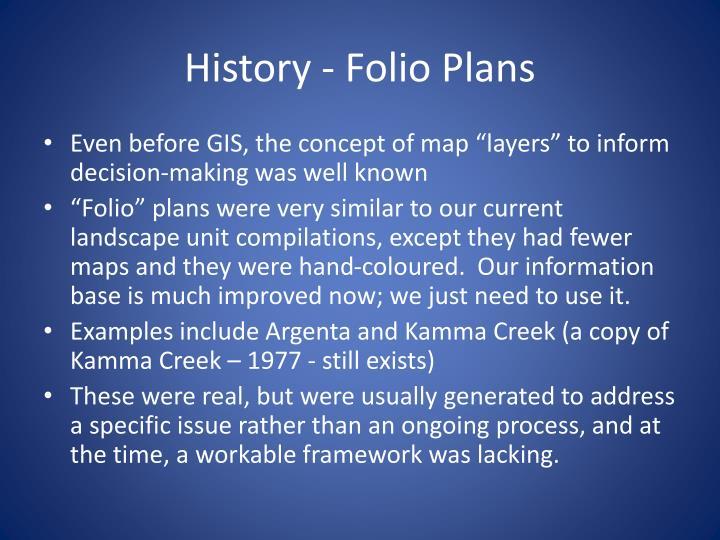 History - Folio Plans