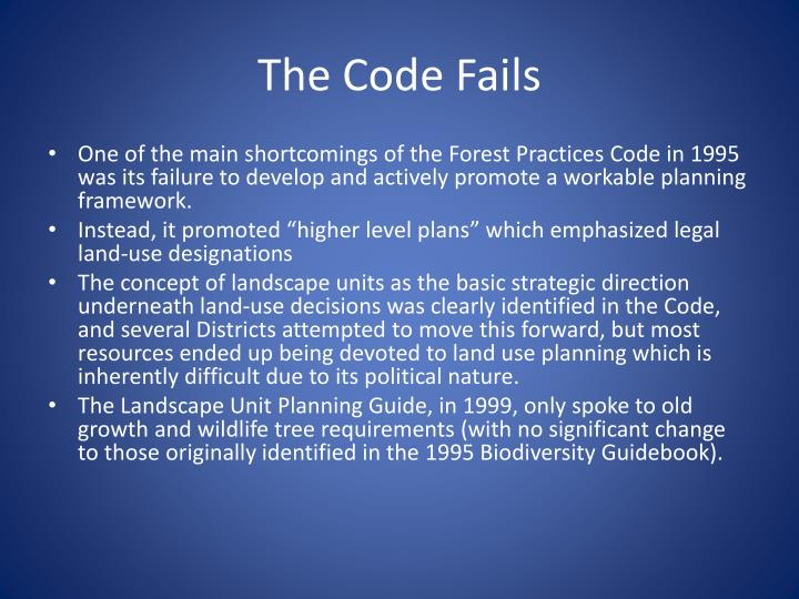 The Code Fails
