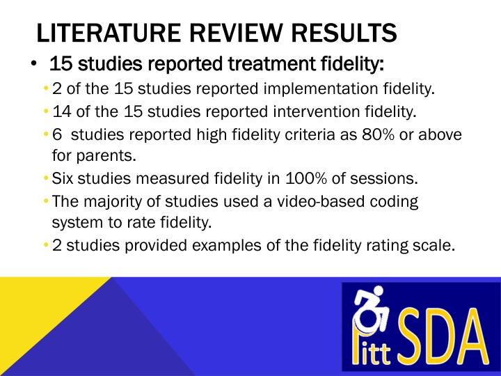 Literature review results