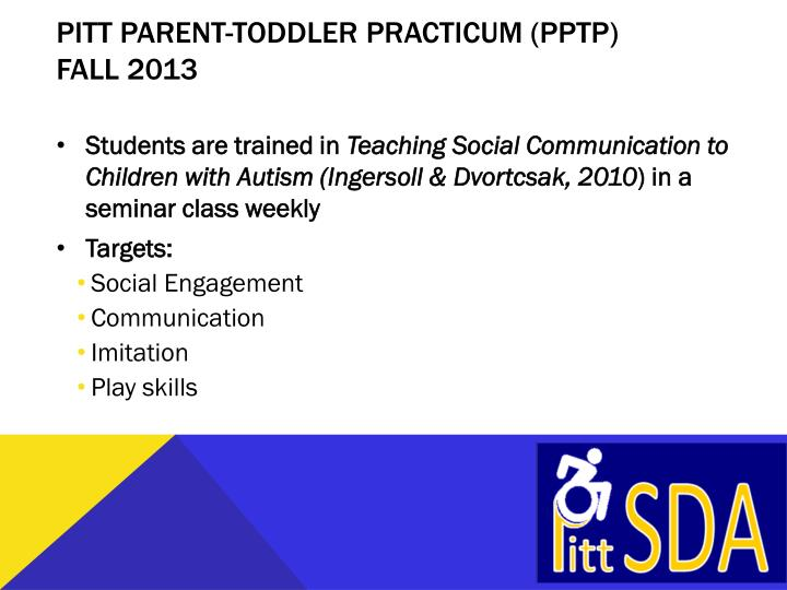 Pitt Parent-Toddler Practicum (PPTP)