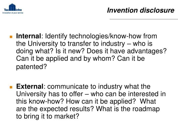Invention disclosure