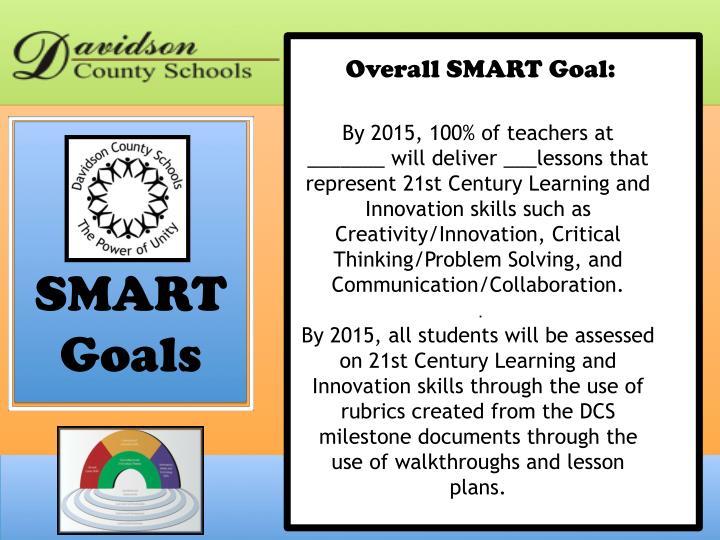 Overall SMART Goal: