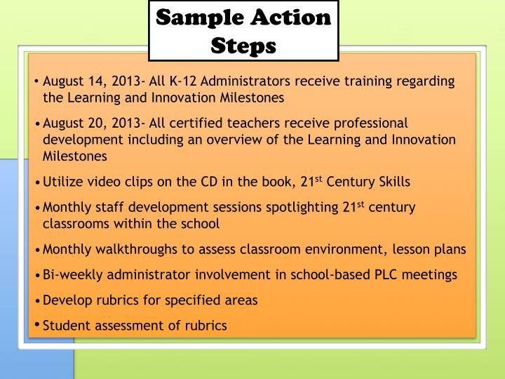 Sample Action Steps