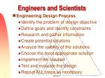 engineers and scientists