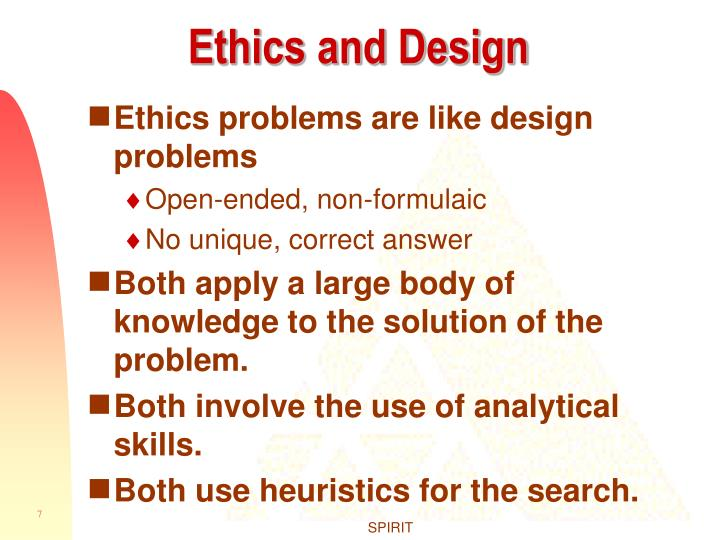 Ethics and Design
