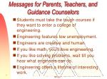 messages for parents teachers and guidance counselors