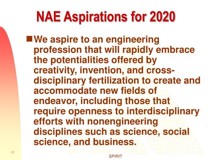 NAE Aspirations for 2020
