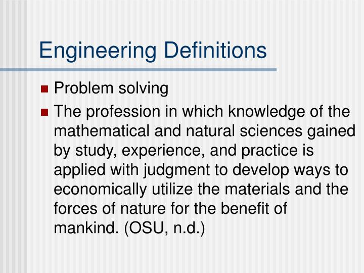 Engineering Definitions