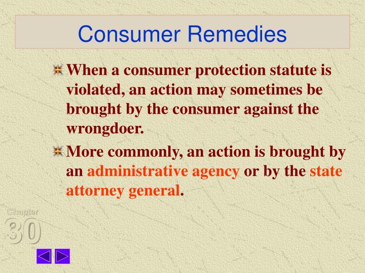 Consumer Remedies