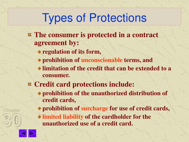 Types of Protections