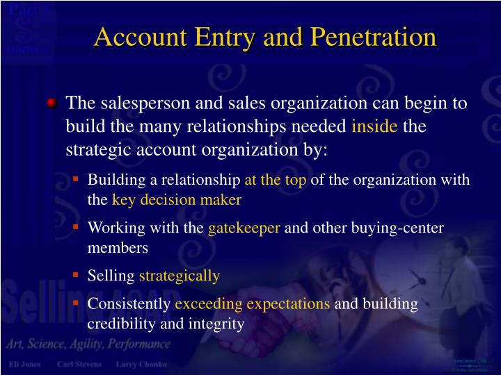 Account Entry and Penetration