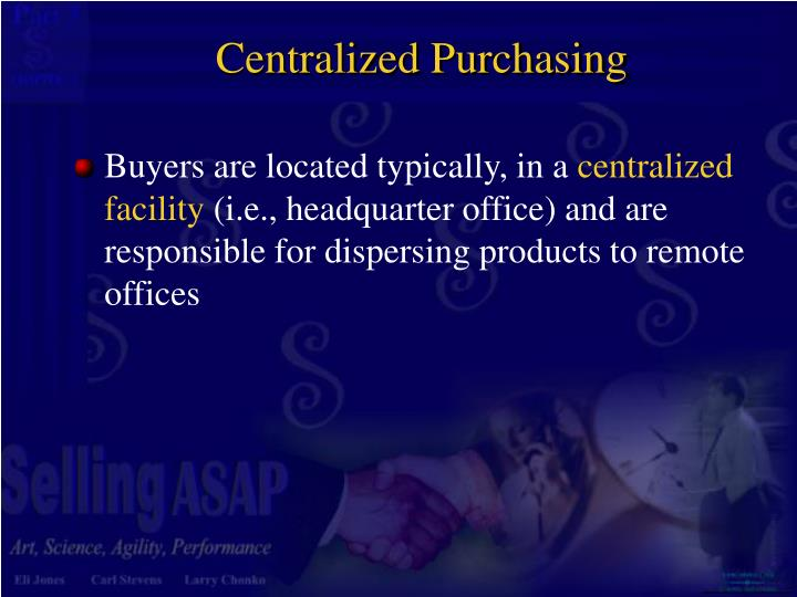 Centralized Purchasing