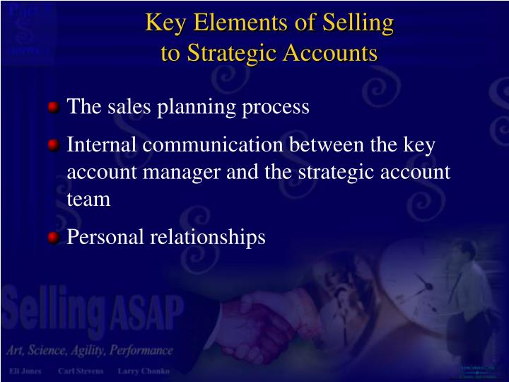 Key Elements of Selling