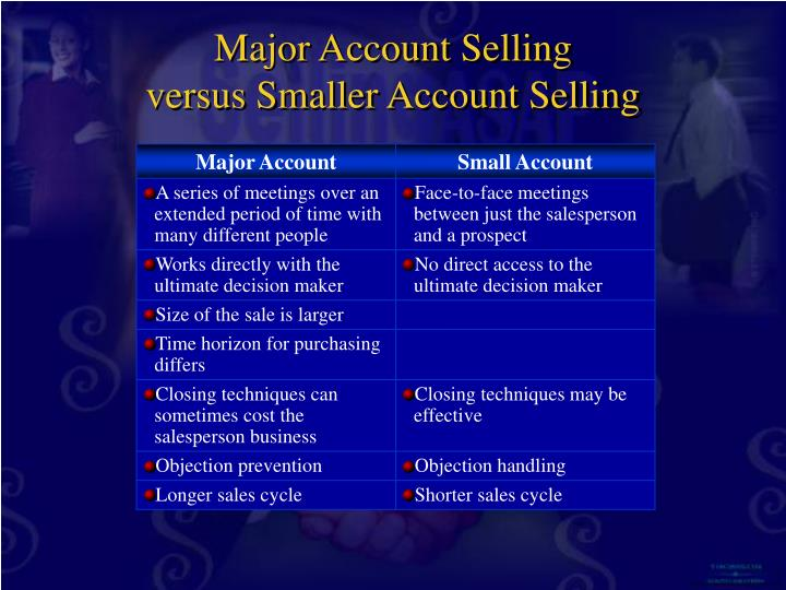 Major Account Selling