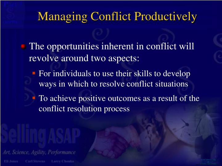 Managing Conflict Productively