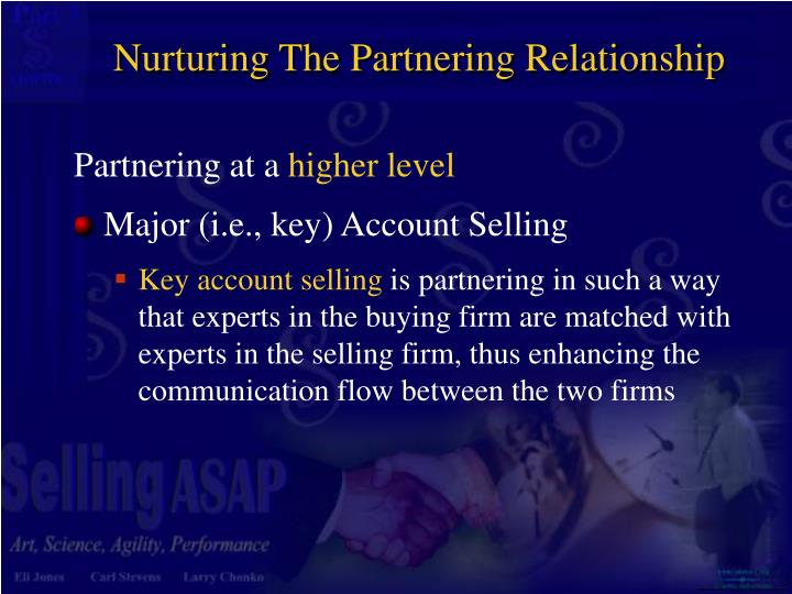 Nurturing The Partnering Relationship