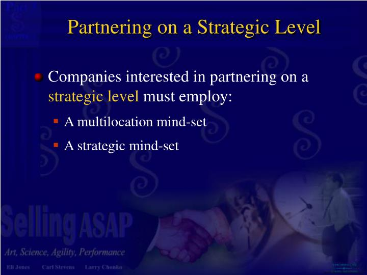 Partnering on a Strategic Level