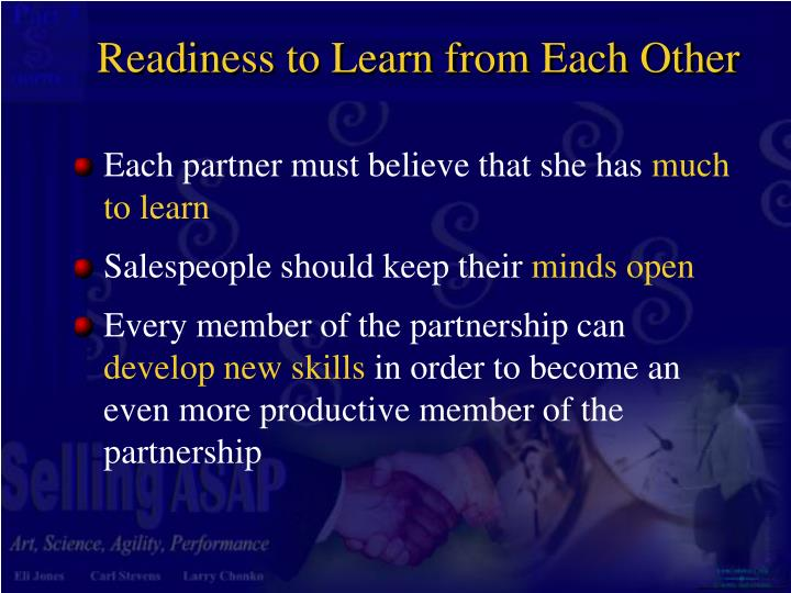 Readiness to Learn from Each Other
